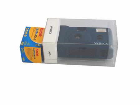 ヤシカトイカメラMF-1PRUSSIANBLUE+コダックULTRANAX24EX